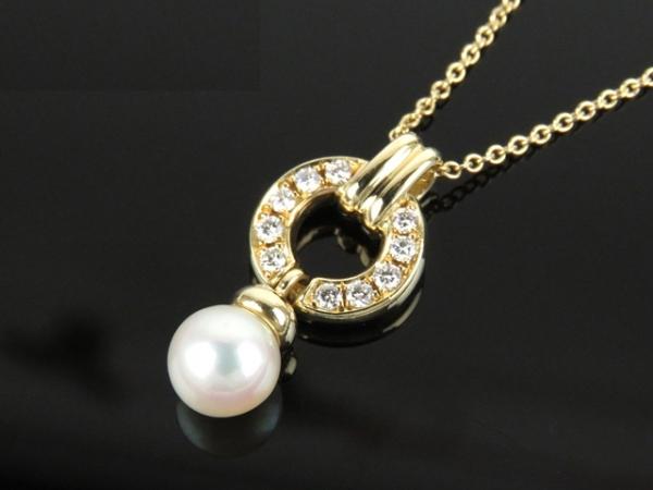 Sa Vòng cổ Tiffany&Co K18YG ngọc trai kim cương