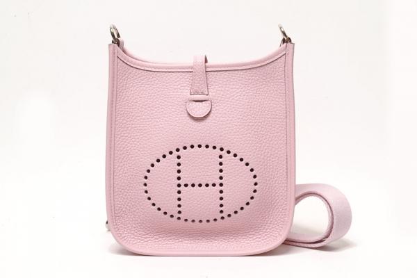 NEW Túi đeo chéo Hermes Evelyn mini màu hồng