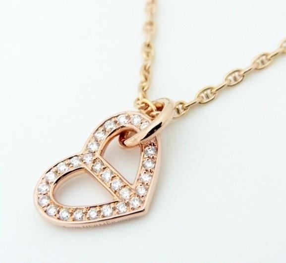 SA Vòng cổ Hermes vàng hồng 750PG kim cương