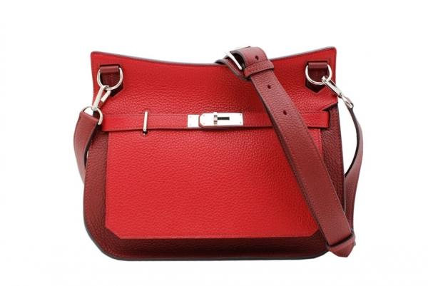 S Túi đeo chéo Hermes jypsiere 28 màu đỏ