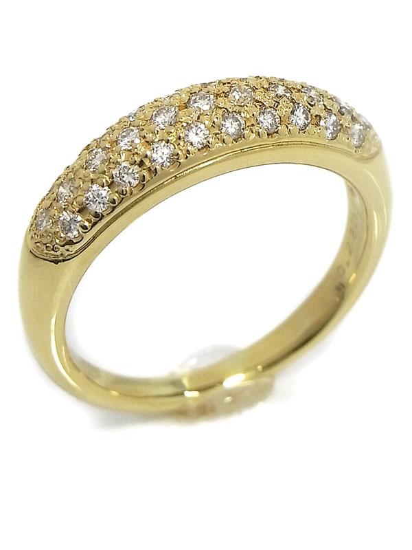 SA Nhẫn Mikimoto K18YG kim cương 0.29ct size 11.5