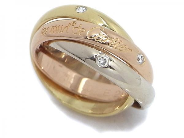 Nhẫn Cartier trinity 3 viên kim cương size 50