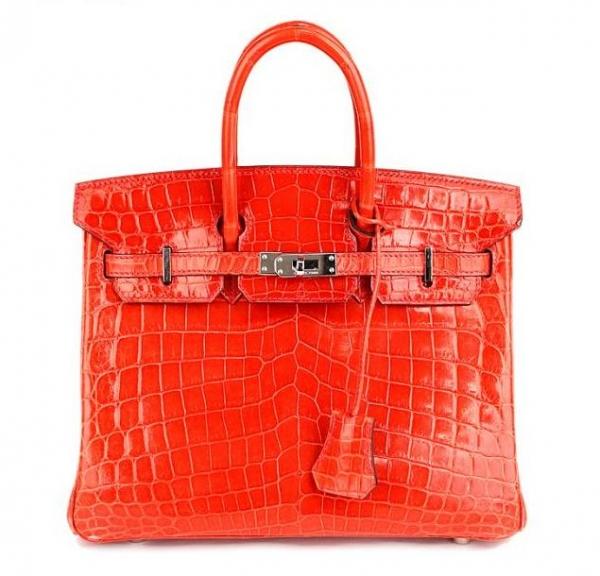 Túi xách Hermes birkin 25 màu đỏ da cá sấu
