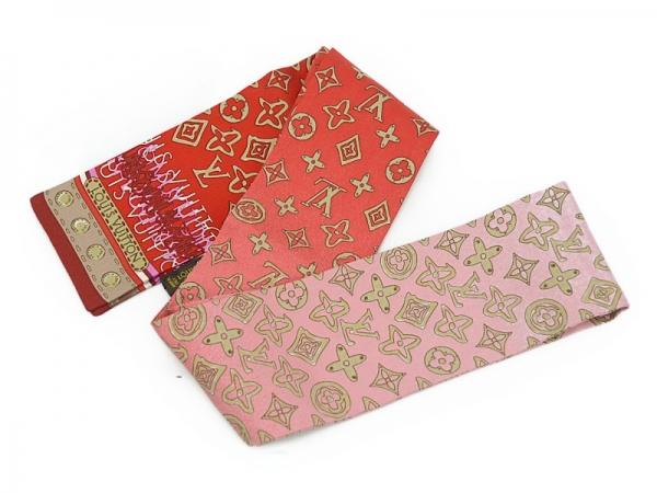 MS5113 khăn Louis Vuitton twilly đỏ hồng