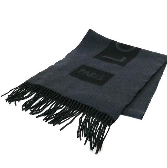 Ms5227 Khăn Louis Vuitton cashmere đen M71291