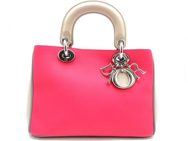 Túi xách Christian màu hồng kem