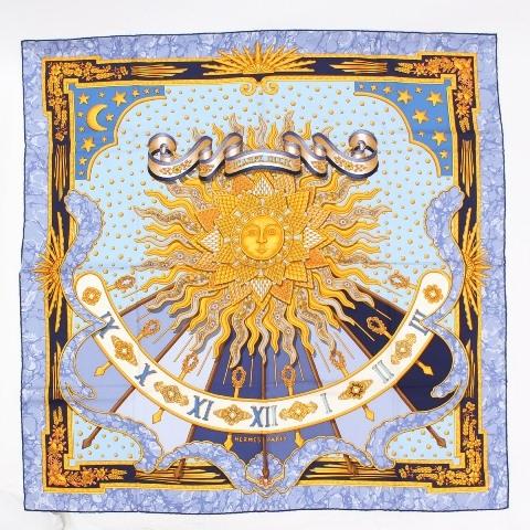 MS5215 Khăn hermes Carpe Diem mặt trời tím