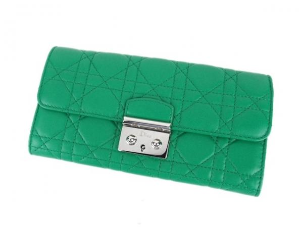 S Ví da Christian Dior màu xanh lá cây