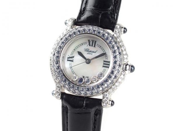 Đồng hồ Chopard K18WG kim cương dây da