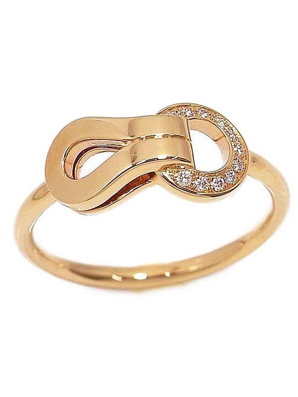 Nhẫn Cartier K18PG kim cương size 48