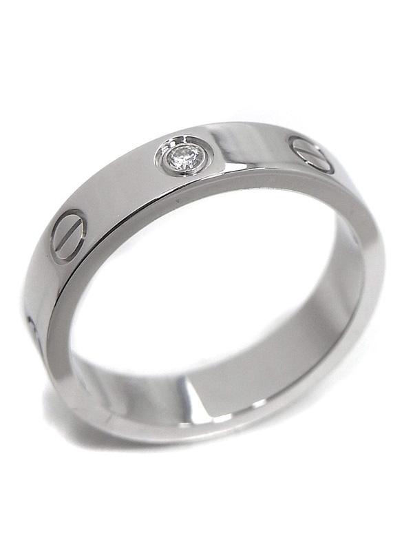 Nhẫn Cartier mini love ring 1P vàng trắng