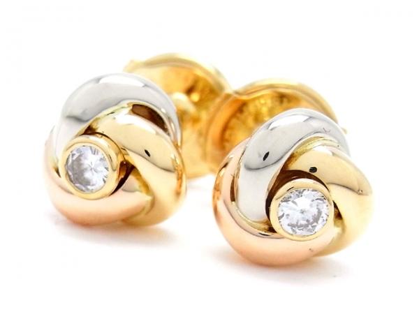Bông tai Cartier Baby Trinity kim cương