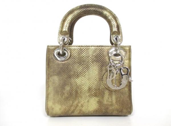 Túi xách Christian Dior da trăn màu vàng M0500PKGA
