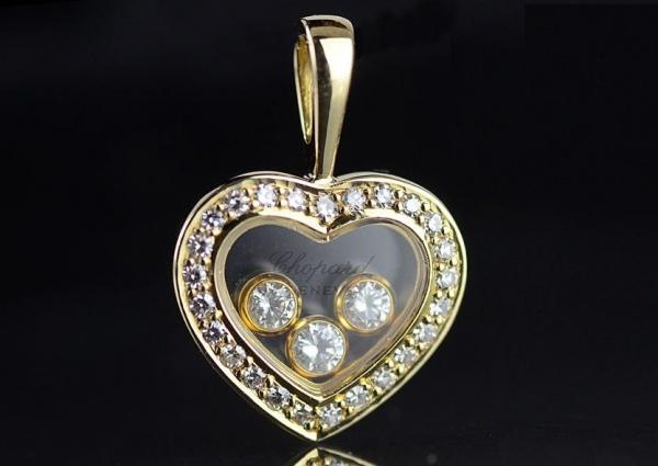SA Mặt dây chuyền Chopard K18YG 3P kim cương