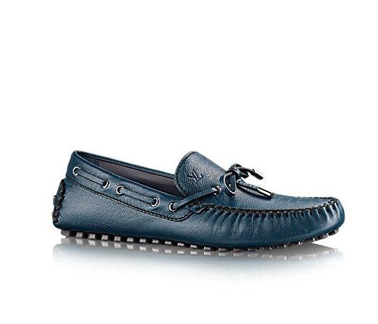 NEW Giày nam Louis Vuitton Arizona buộc nơ xanh