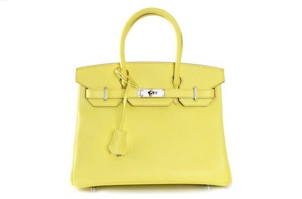 S Túi xách Hermes birkin 30 màu vàng soufre