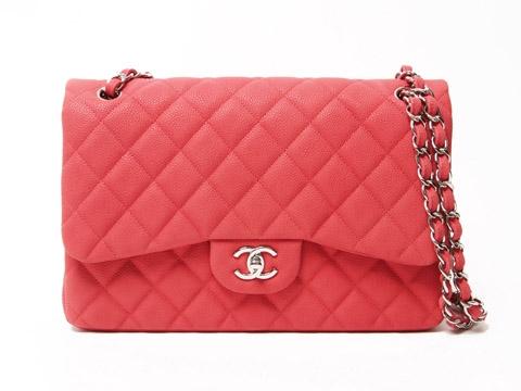 S Túi Chanel classic jumbo caviar màu hồng