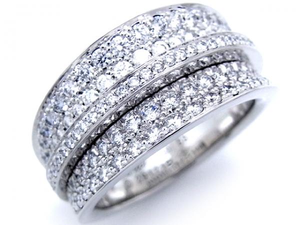 Nhẫn Cartier 750WG kim cương size 53