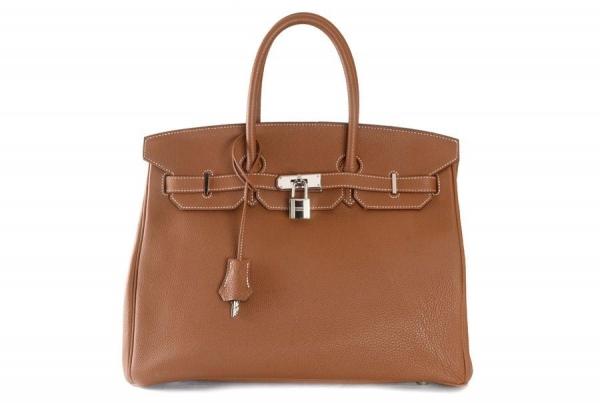 Túi xách Hermes birkin 35 màu nâu da bò