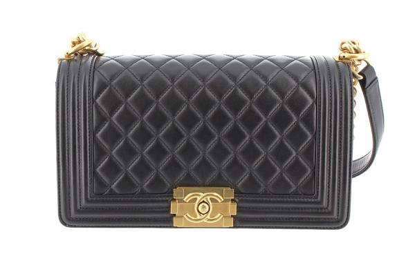 SA Túi xách Chanel boy màu đen A67086