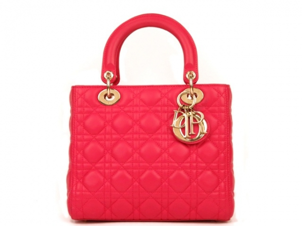 Túi xách christian Dior Lady Dior màu hồng