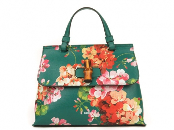 S Túi xách Gucci màu xanh hoa 370831