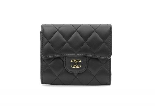 S Ví gập Chanel màu đen A84029