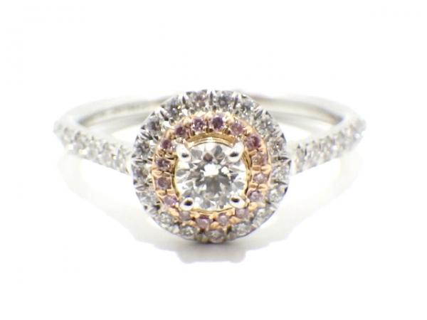 S Nhẫn Tiffany&Co K18WG kim cương size 9