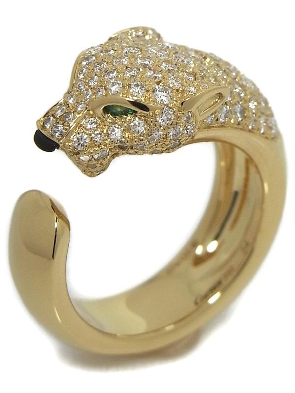 SA Nhẫn Cartier đầu báo k18YG kim cương size 54