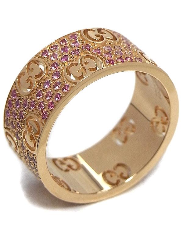 SA Nhẫn Gucci vàng hồng K18PG đá saphire size 17