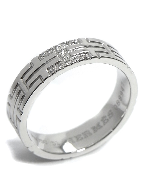 SA Nhẫn Hermes K18WG kim cương size 11