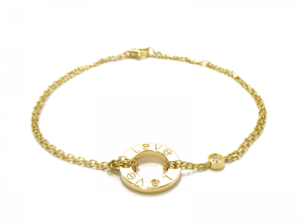 S Vòng tay Cartier vàng K18YG kim cương B6038300