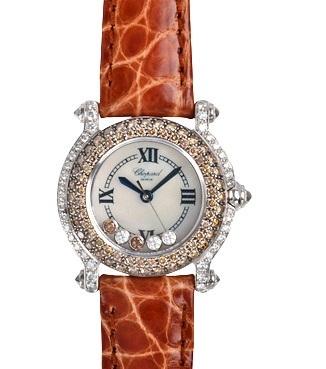SA Đồng hồ Chopard kim cương dây da nâu