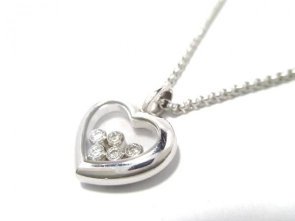 SA Vòng cổ Chopard trái tim K18WG kim cương