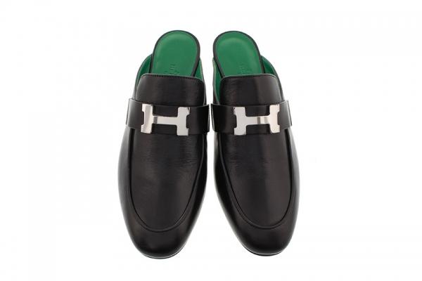 S Giày hở gót Hermes màu đen size 35