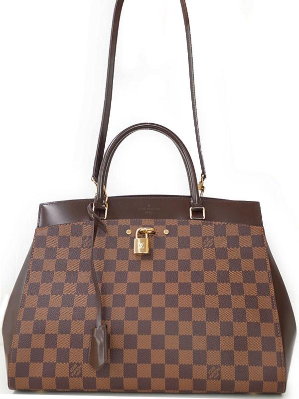SA Túi Louis Vuitton damier Rivoli MM màu nâu N41150