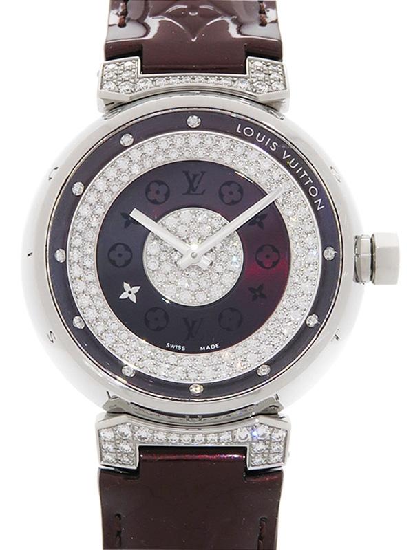Đồng hồ Louis Vuitton kim cương Tambour Q111A