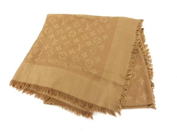 Khăn len lụa Louis Vuitton màu nâu