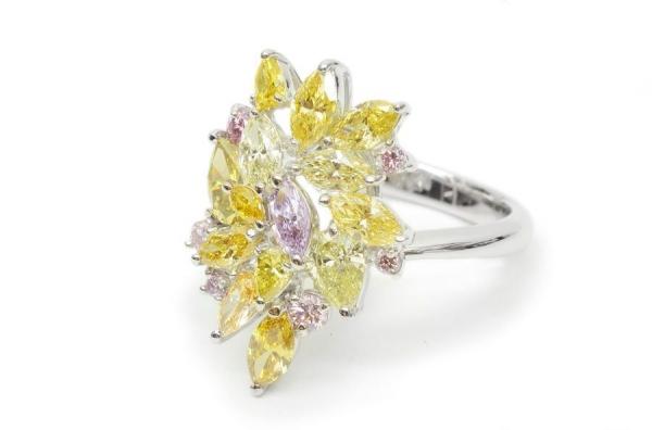 SA Nhẫn Pt900 kim cương 2,69ct size 13