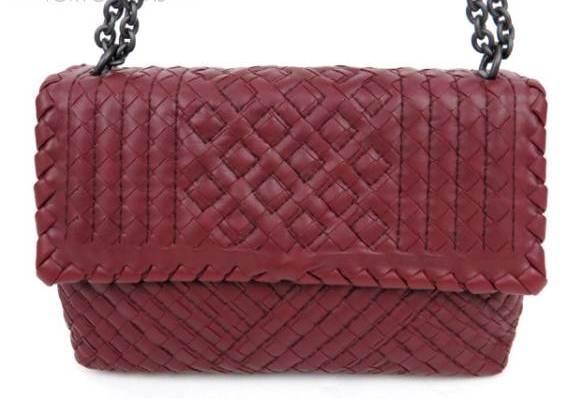 SA Túi xách Bottega Veneta màu đỏ thẫm