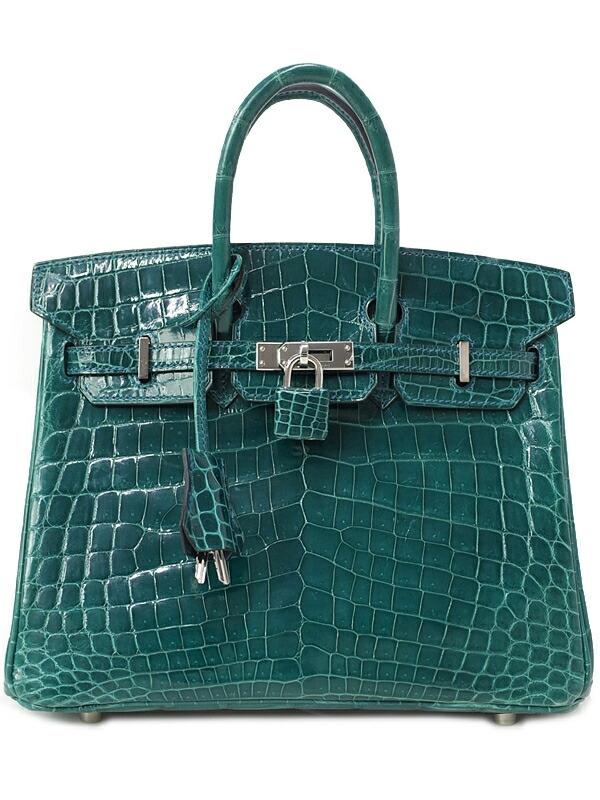 SA Túi Hermes Birkin 25 cá sấu xanh stamp A