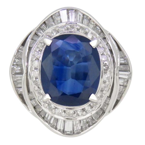 Nhẫn saphire 4.28ct size 13.5 Pt900