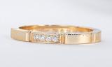 Nhẫn Cartier K18 diamond size 18