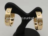 Bông tai Cartier K18 YG diamond