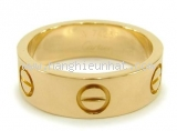 Nhẫn Cartier love ring K18YG size 51