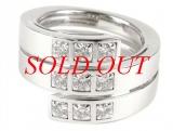 HÀNG HIẾM Nhẫn Cartier diamond ring size 54 ( số 14 )