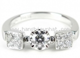 LIMITED Nhẫn Bvlgari K18WG diamond size 10 0.35ct