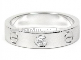 Nhẫn Cartier mini love ring 1P diamond size 48