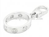 mặt dây chuyền Cartier K18WG full diamond
