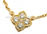 Vòng cổ Cartier 5p diamond k18YG